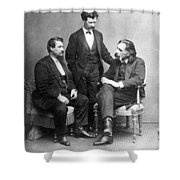 Clemens, Nasby & Shaw Shower Curtain