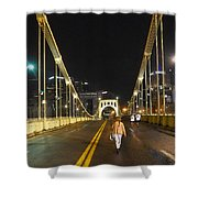Clemente Bridge Stragglers Shower Curtain