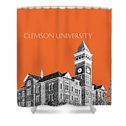 Clemson University - Coral Shower Curtain
