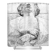 Clenched Hands Shower Curtain