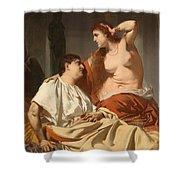 Cleopatra And Antony Shower Curtain