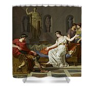Cleopatra And Octavian Shower Curtain