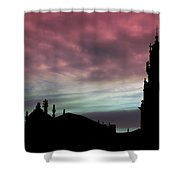 Clerigos Tower Sunset Shower Curtain