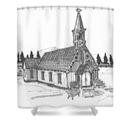 Clermont Chapel Shower Curtain