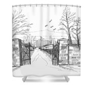 Clermont Farm Gate Shower Curtain