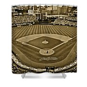 Cleveland Baseball In Sepia Shower Curtain