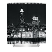 Cleveland Black Night Shower Curtain