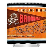Cleveland Browns 1959 Retro Print Shower Curtain