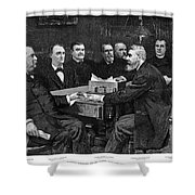 Cleveland Cabinet, 1893 Shower Curtain