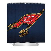 Cleveland Cavaliers Nba Team Retro Logo Vintage Recycled License Plate Art Shower Curtain