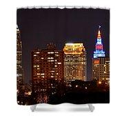 Cleveland Cityscape Shower Curtain