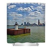 Cleveland Harbor  Shower Curtain