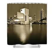Cleveland In Sepia Shower Curtain
