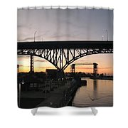 Cleveland Ohio Flats At Sunset Shower Curtain