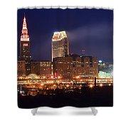 Cleveland Panoramic Night Shower Curtain