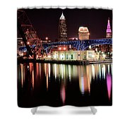 Cleveland Panoramic Reflection Shower Curtain