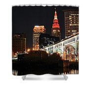 Cleveland Up Close Shower Curtain