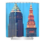 Clevelands Iconic Towers Shower Curtain