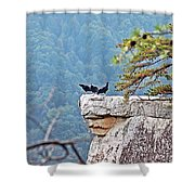 Cliff Hanging Shower Curtain