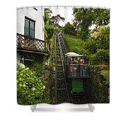 Cliff Railway  Shower Curtain