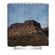 Cliffs Above Apache Lake Shower Curtain