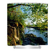 Cliffs And Trees Along Malanaphy Shower Curtain