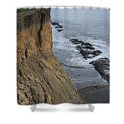 D3a6138-cliffs At Bolinas  Shower Curtain