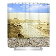 Cliffs At The Town Landing In Little Compton Ri Shower Curtain