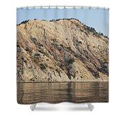 Cliffs Erikousa Shower Curtain