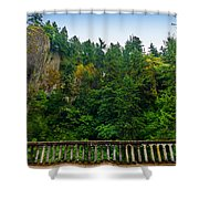 Cliffs High Above Road Shower Curtain