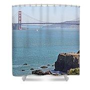 Cliffs Near Golden Gate Bridge Shower Curtain