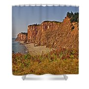 Cliffs Of Cape D'or From A Promontory Over Advocate Bay-ns Shower Curtain
