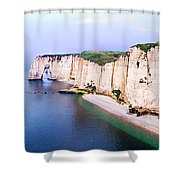 Cliffs Of Etretat 3 Shower Curtain