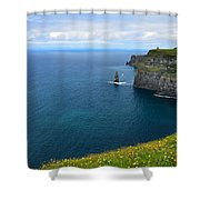 Cliffs Of Moher Looking North Shower Curtain