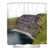 Cliffs Of Moher Panorama 1 Shower Curtain