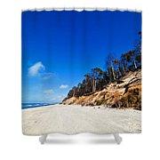 Cliffs On A Sunny Beach Shower Curtain