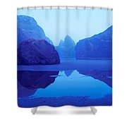Cliffs On The Coast At Dawn, Meyers Shower Curtain