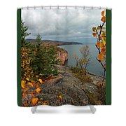Cliffside Fall Splendor Shower Curtain