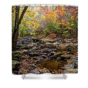 Clifty Creek In Hdr Shower Curtain by Paul Mashburn