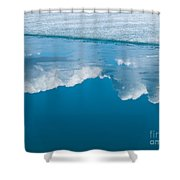 Climate Change Blue Arctic Water Reflected Clouds Shower Curtain