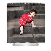 Climber 01 Shower Curtain