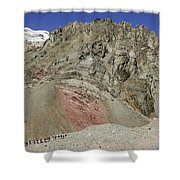 Climbers Ascending Aconcagua, Argentina Shower Curtain