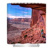 Climbers Getting Ready For Rock Shower Curtain