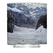 T-803501-b-climbers In The Death Trap Shower Curtain