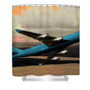 Climbing Power Shower Curtain by Marcello Cicchini