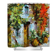 Climbing Red Rose Shower Curtain