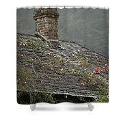 Climbing Roses Shower Curtain by Ron Sanford