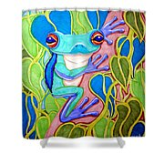 Climbing Tree Frog Shower Curtain