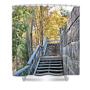 Climing Into Autumn Shower Curtain