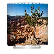 Clinging To The Edge Bryce Canyon Shower Curtain